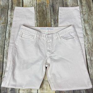 Banana Republic Bone color Jeans, size 30